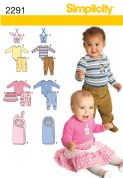 2291 Simplicity Pattern: Babies' Separates